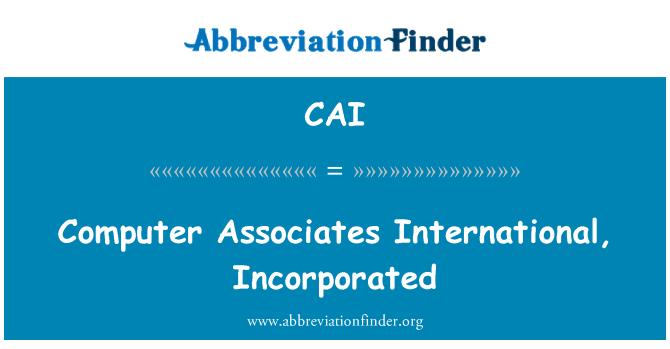 CAI: Computer Associates International, incorporado