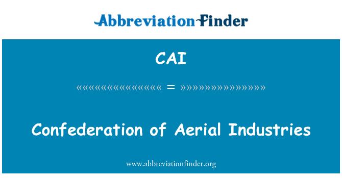 CAI: Confederación de industrias aéreas