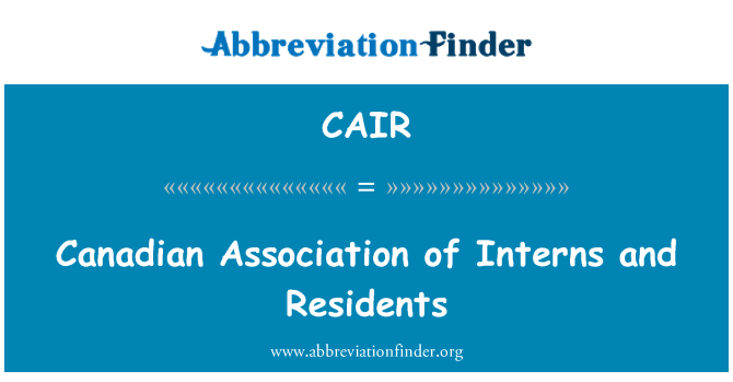 CAIR: Canadian Association of Interns and Residents