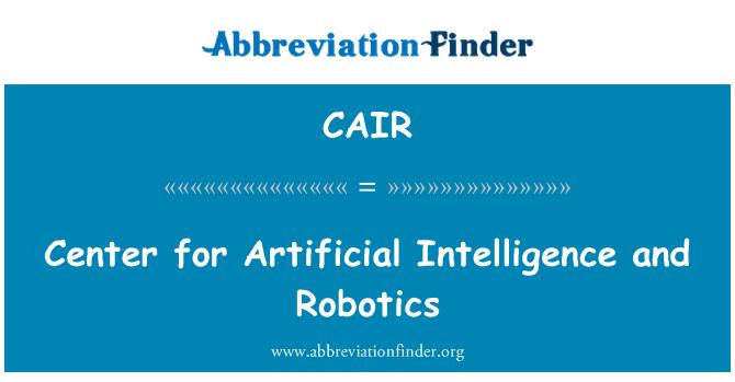CAIR: Centro de Inteligencia Artificial y robótica