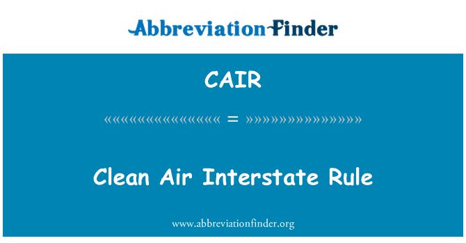 CAIR: Regla interestatal del aire limpio