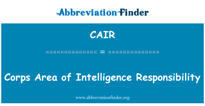 CAIR: Corps Area of Intelligence Responsibility