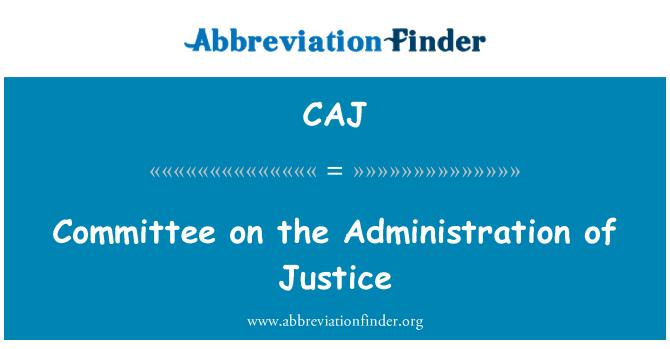 CAJ: Comisión de la administración de justicia