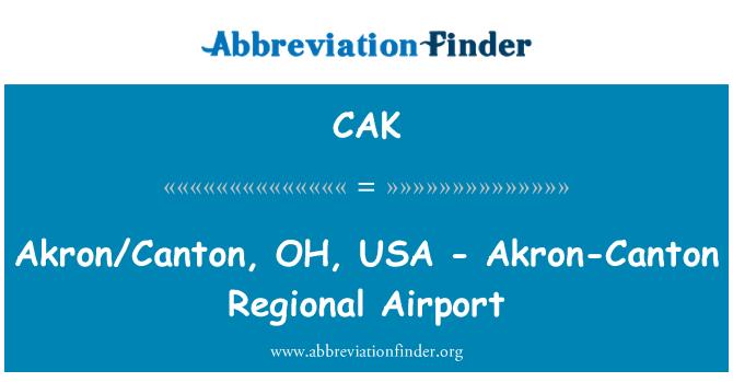 CAK: Akron/Canton, OH, USA - Akron-Canton Regional Airport