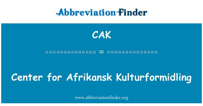 CAK: Center for Afrikansk Kulturformidling