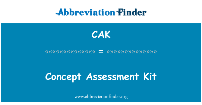 CAK: Concept Assessment Kit