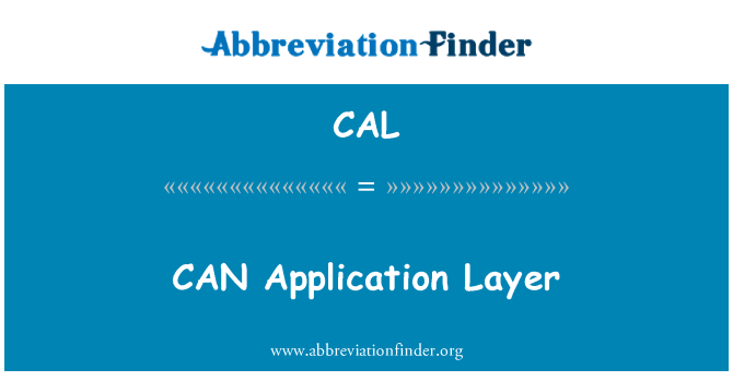 CAL: CAN Application Layer