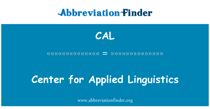 CAL: Center for Applied Linguistics