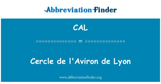 CAL: Cercle de l'Aviron de Lyon