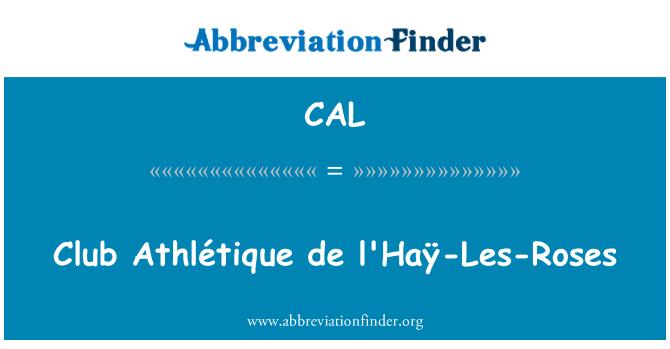 CAL: Club Athlétique de l'Haÿ-Les-Roses