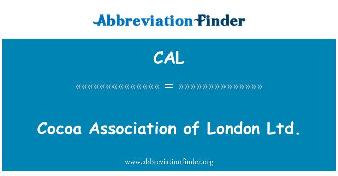 CAL: Cocoa Association of London Ltd.