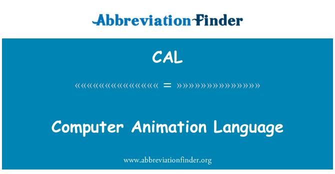 CAL: Lenguaje de computación Animation