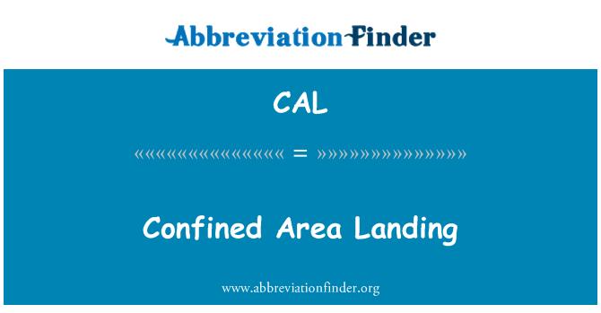 CAL: Área confinada de aterrizaje
