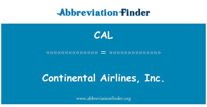 CAL: Continental Airlines, Inc.