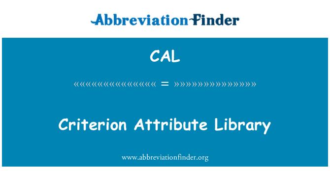 CAL: Criterio atributo biblioteca