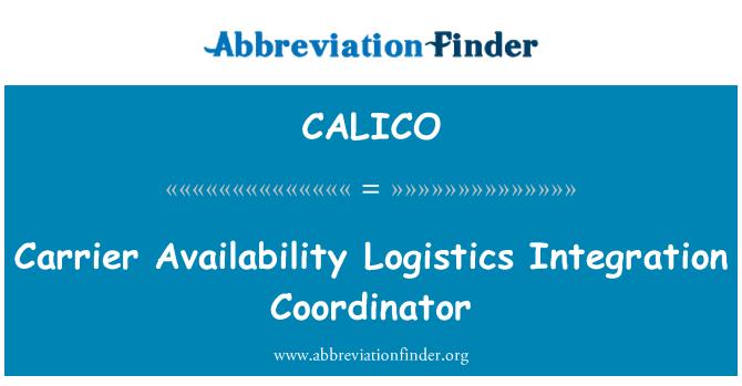 CALICO: Taşıyıcı kullanılabilirlik lojistik entegrasyon Koordinatörü