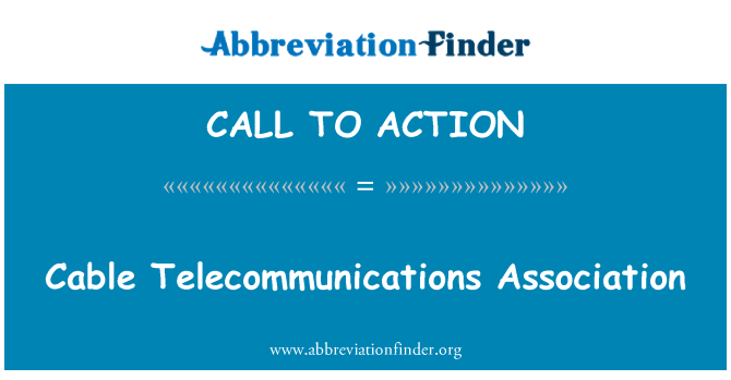 CALL TO ACTION: Kaapeli Telecommunications Association