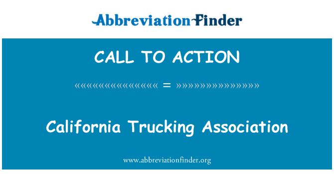 CALL TO ACTION: Kalifornijos vežėjų asociacija