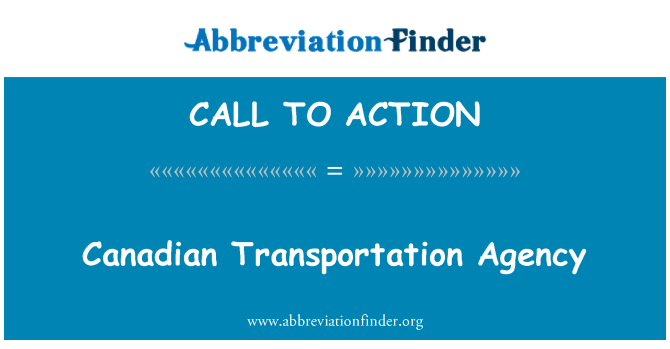 CALL TO ACTION: Agencia Canadiense para el transporte