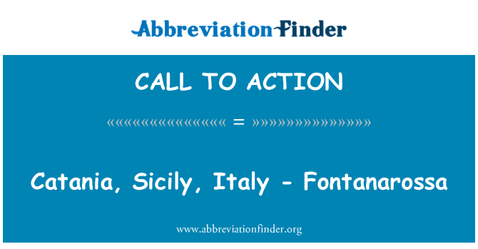 CALL TO ACTION: Catania, Sicilien, Italien - Fontanarossa