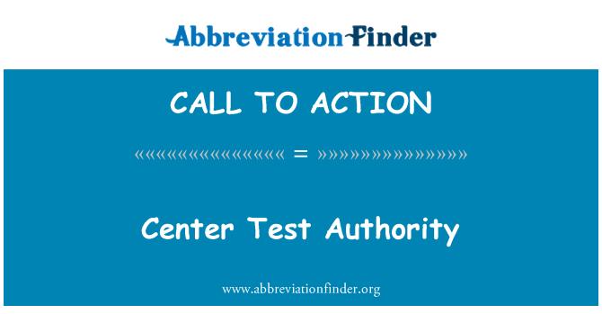 CALL TO ACTION: Autorización para centro de prueba