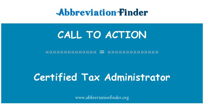 CALL TO ACTION: Administrador certificada de imposto