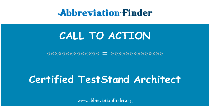 CALL TO ACTION: Sertifikuota TestStand architektas