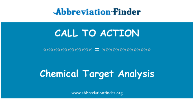 CALL TO ACTION: Análisis químico blanco