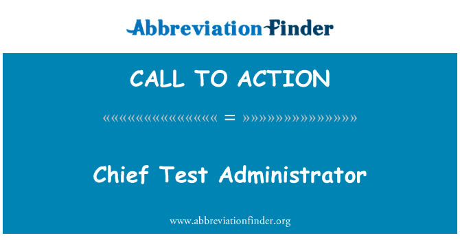 CALL TO ACTION: Chefe administrador do teste