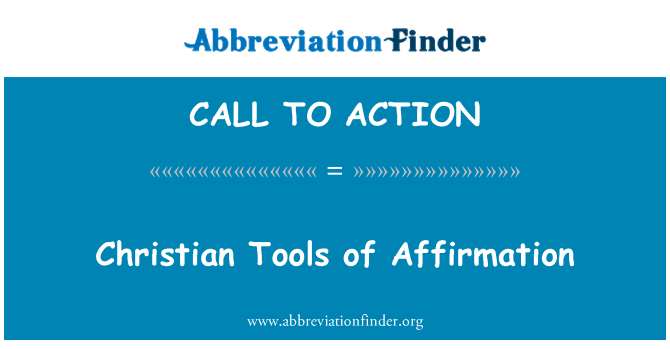 CALL TO ACTION: Krikščionių įrankiai patvirtinimą