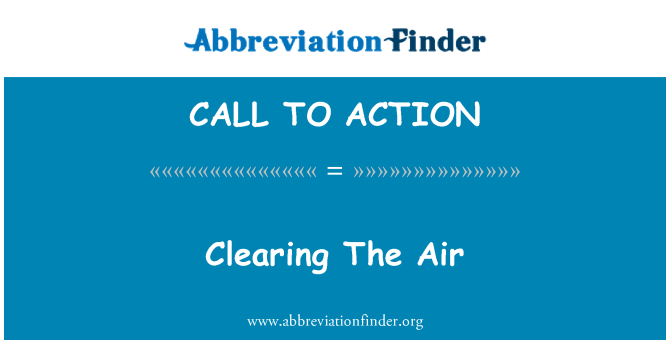 CALL TO ACTION: Air をクリア