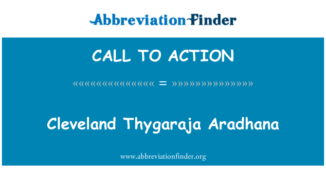 CALL TO ACTION: Cleveland Thygaraja Aradhana