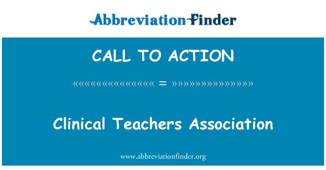 CALL TO ACTION: Klinikiniai mokytojų asociacija