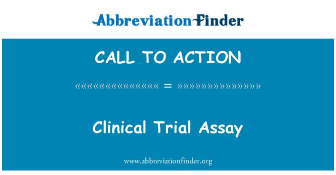 CALL TO ACTION: ทดสอบทดลองทางคลินิก