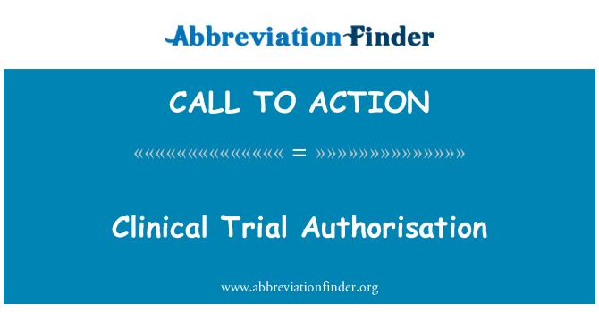 CALL TO ACTION: Kliinisen tutkimuksen lupa
