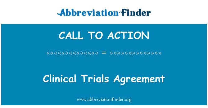 CALL TO ACTION: اتفاق التجارب السريرية