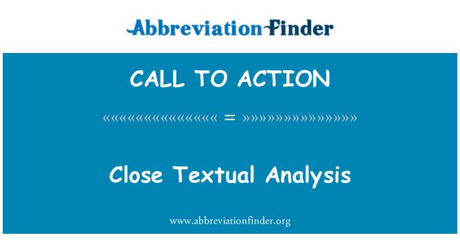 CALL TO ACTION: Cerca de análisis Textual