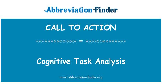CALL TO ACTION: Pažinimo užduočių analizė