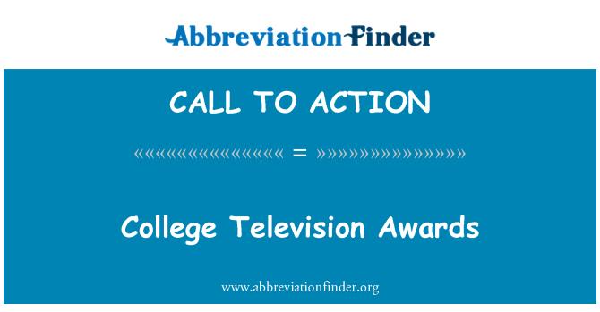 CALL TO ACTION: Premios de televisión de la Universidad