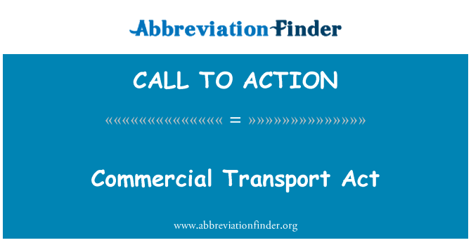 CALL TO ACTION: Ley de transporte comercial