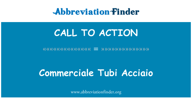 CALL TO ACTION: Commerciale Tubi Acciaio