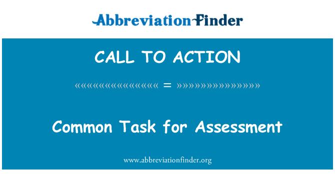 CALL TO ACTION: Gemeenschappelijke taak voor beoordeling