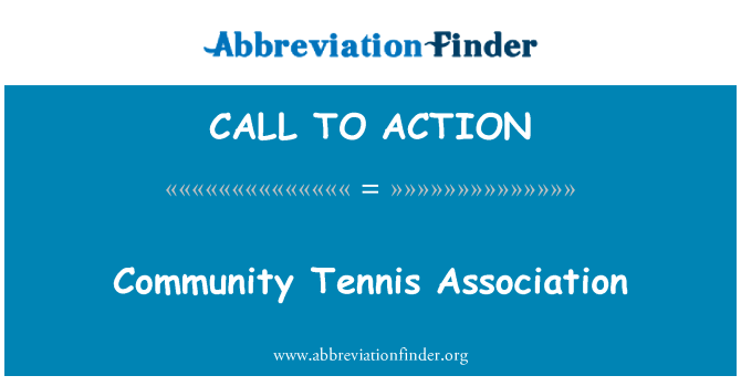 CALL TO ACTION: Gemeinschaft Tennis Association