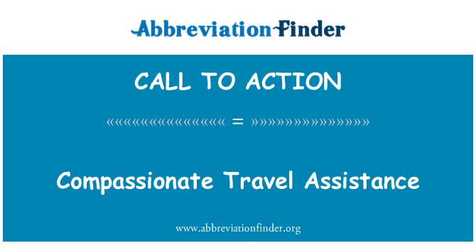 CALL TO ACTION: Labdaros kelionės pagalba