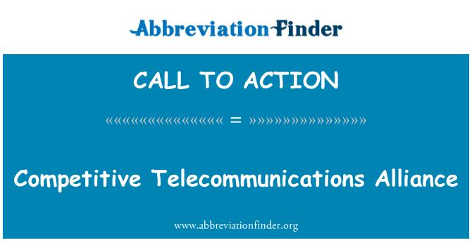 CALL TO ACTION: Alianza de telecomunicaciones competitivos