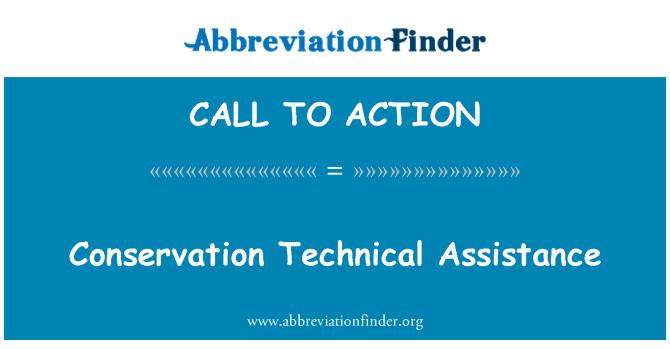 CALL TO ACTION: Asistencia técnica de conservación