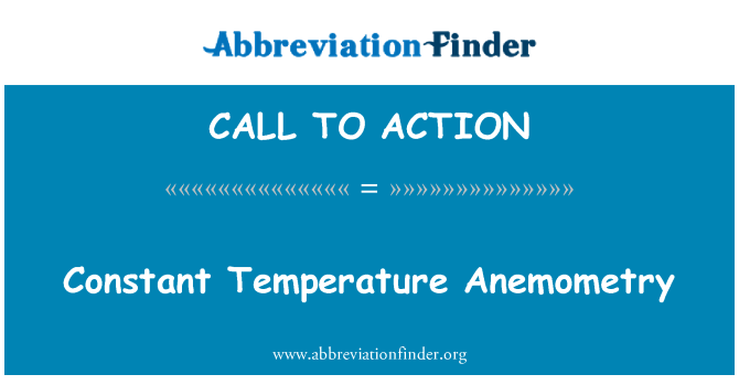CALL TO ACTION: Stalna temperatura Anemometry
