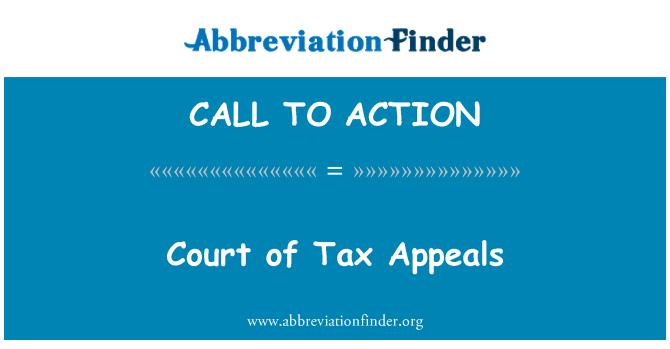 CALL TO ACTION: Mokesčių apeliacinis teismas
