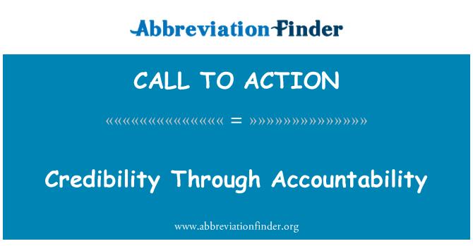 CALL TO ACTION: Trovärdighet genom ansvar