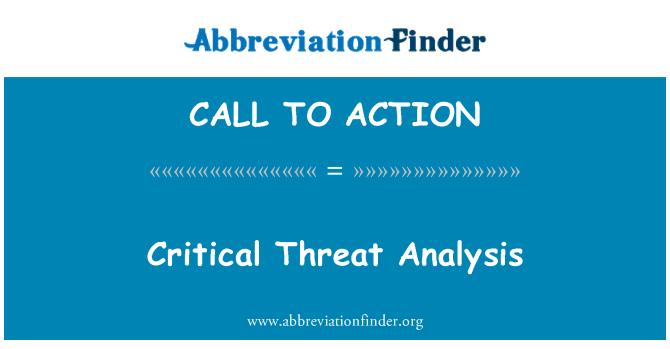 CALL TO ACTION: Ypatingos svarbos grėsmės analizė
